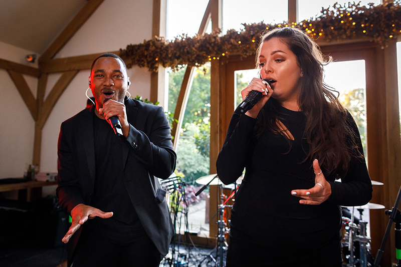Wedding singers are the perfect wedding entertainment option for your wedding day at Mythe Barn